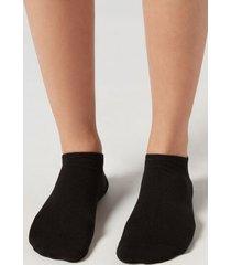 calzedonia unisex cashmere no-show socks man black size 40-41