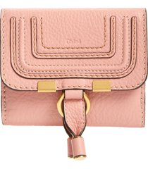 women's chloe marcie leather french wallet - pink