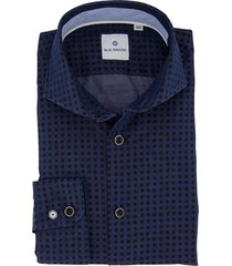 overhemd blue industry donkerblauw stippen