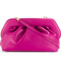 themoirè pleated design clutch bag - pink