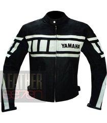 yamaha 0120 black leather motorcycle motorbike genuine cowhide  jacket coat