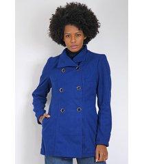 casaco queens paris botões azul