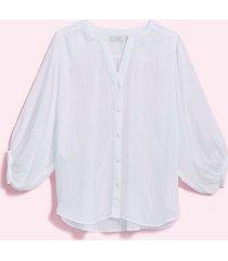 loft loft plus striped drop shoulder button down shirt