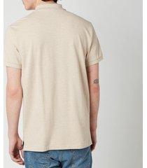 polo ralph lauren men's mesh knit slim fit polo shirt - expedition dune heather - s