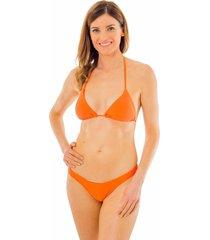 bikini liso corte cruzado naranja ac mare
