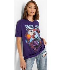oversized gelicenseerd space jam t-shirt, purple