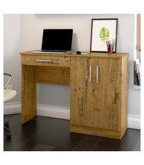 mesa para computador patrimar móveis space 2 portas 1 gaveta nature