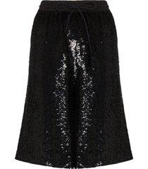 ashish sequin bermuda shorts - black