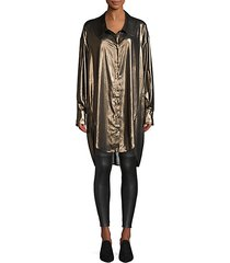metallic oversized blouse