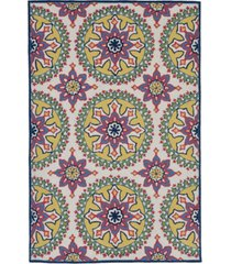 liora manne' capri 1686 moroccan medallion 2' x 8' indoor/outdoor runner area rug