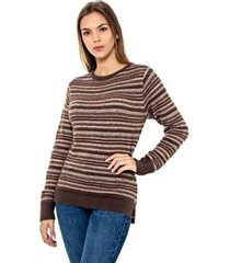suéter katze listras feminino