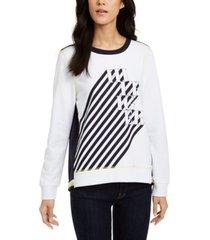 tommy hilfiger logo graphic swing-back sweatshirt