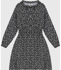 vestido negro-blanco paris district