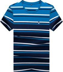camiseta de manga corta para hombre azul