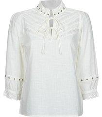 blouse cream nitty blouse