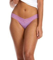 hanky panky dream low rise thong in berry pie purple at nordstrom