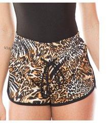 saída de praia dunacasual shorts com ilhós animalle