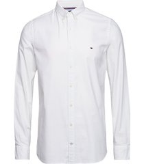 core stretch slim oxford shirt overhemd business wit tommy hilfiger