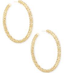 """kendra scott large openwork tubular hoop earrings, 2.5"""""""