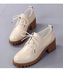 zapatos estilo oxford para mujer - beige