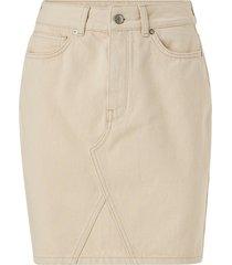 jeanskjol slfhelena mw jade white denim skirt