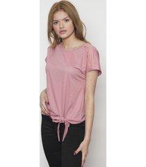 blusa manga corta rosa 609 seisceronueve