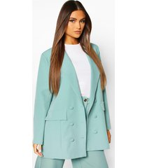double breasted oversized blazer, mint