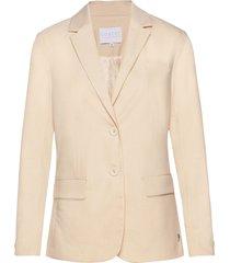 suit jacket w. button details at cu blazer colbert beige coster copenhagen