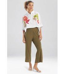 natori sanded twill cropped pants, women's, size l
