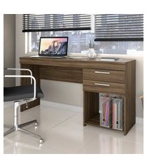 mesa de escritório notável móveis office com 2 gavetas