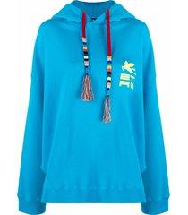 etro monterey jersey oversized sweatshirt w/hood