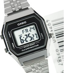 reloj casio retro digital la-680wa-1 plata