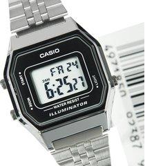 reloj casio retro digital la-680wa-1 plata