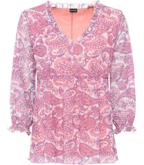 maglia lunga fantasia (rosa) - bodyflirt