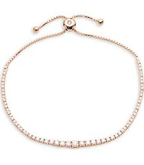 14k rose gold & diamond bracelet