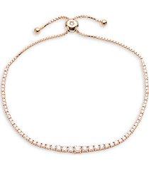 14k rose gold & diamond bracelet