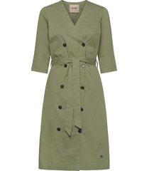vinnie cole dress knälång klänning grön mos mosh