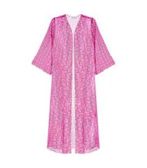 kimono paetê laminado carnaval - rosa