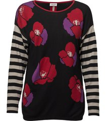 pullover long-sleeve t-shirts & tops long-sleeved zwart gerry weber