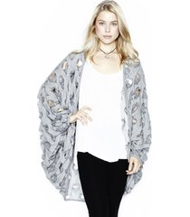 easton heart cardigan - one grey
