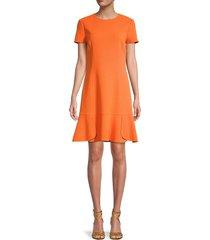 oscar de la renta women's virgin wool-blend a-line dress - mandarin - size 10