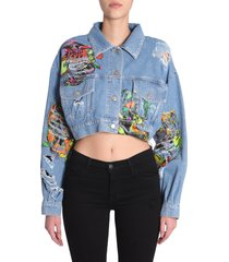 jeremy scott destroyed denim jacket