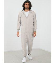 yoins basics monos de manga larga con capucha y cremallera de moda para hombre mono