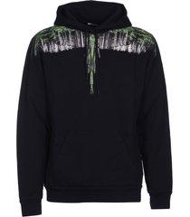 marcelo burlon wing printed hoodie