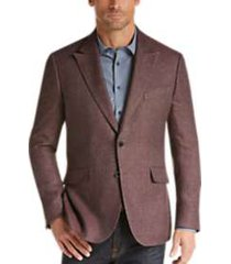 joseph abboud burgundy tic slim fit sport coat