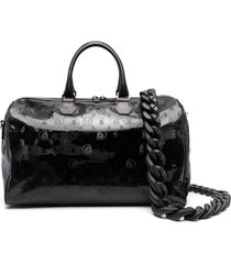 philipp plein camouflage-pattern tote bag - black