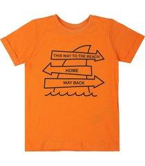 camiseta naranja-blanca name it