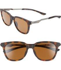 women's smith roam 53mm chromapop(tm) polarized sunglasses - matte tortoise/ brown
