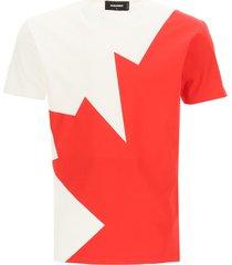 dsquared2 leaf print t-shirt