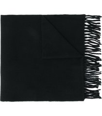 polo ralph lauren embroidered pony scarf - black